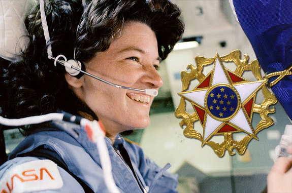 Astronaut Sally Ride, America's first woman in space, has been posthumously awarded the Medal of Freedom.