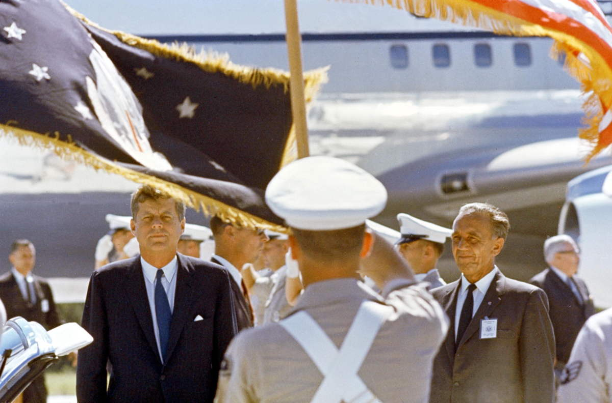 President Kennedy Arrives at the Cape Canaveral Missile Test Annex Skid Strip
