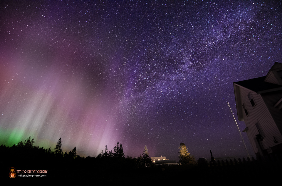 Aurora Borealis Over Pemaquid Point Lighthouse: Modified