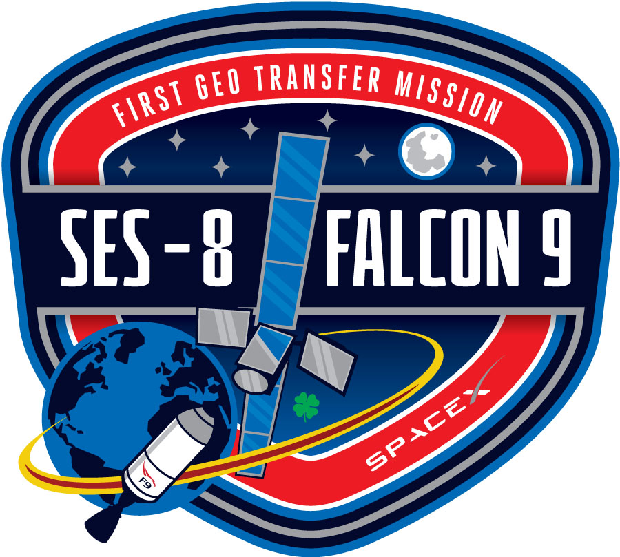 SpaceX SES-8 Mission Patch