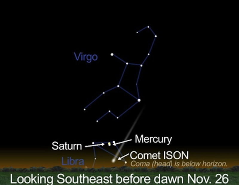 Mercury Shines Near Saturn in Pre-Dawn Sky Tuesday: How to See it