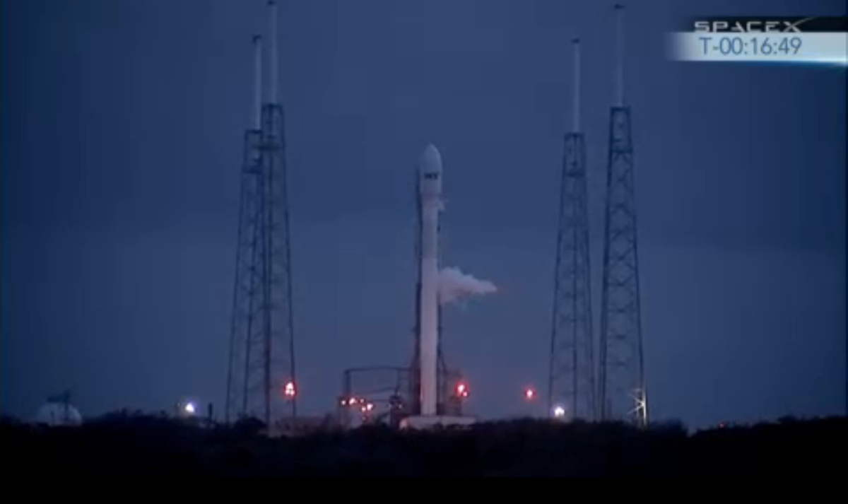SpaceX SES-8 Mission Falcon 9 Rocket on Launch Pad