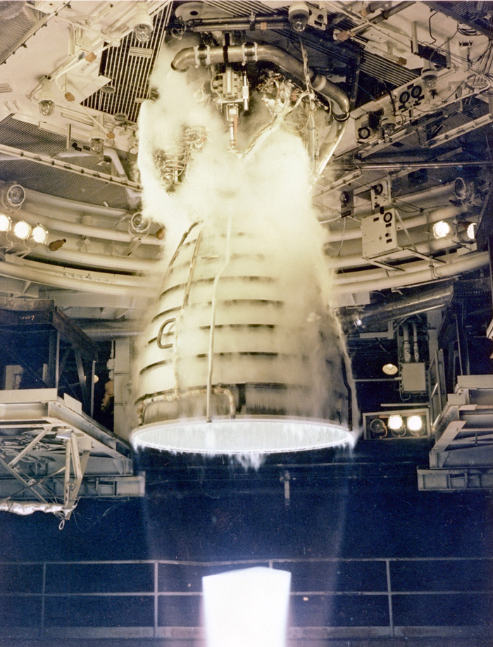 Space History Photo: Space Shuttle Main Engine (SSME) Test Firing