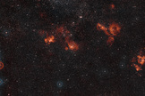 A wide-field view of many star-forming regions in the constellation of Dorado, the Swordfish. Image released Nov. 27, 2013.