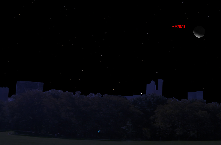 See the Moon and Mars Before Sunrise on Wednesday