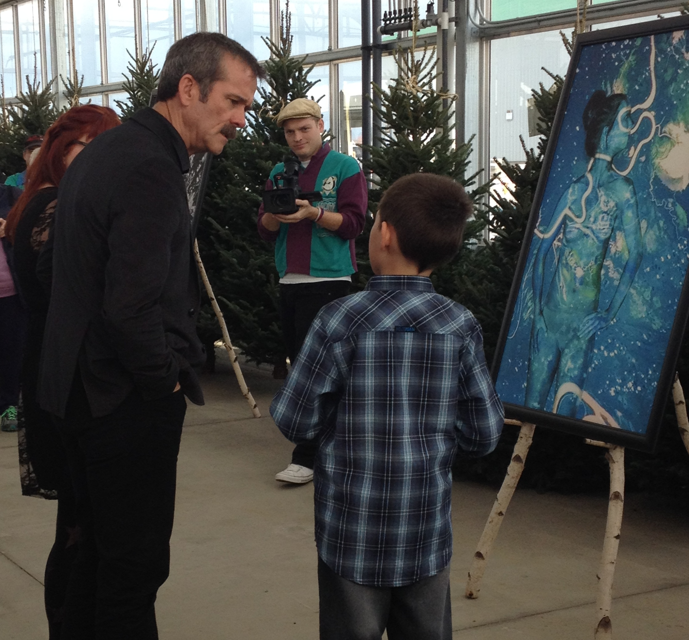 Chris Hadfield With Young Fan