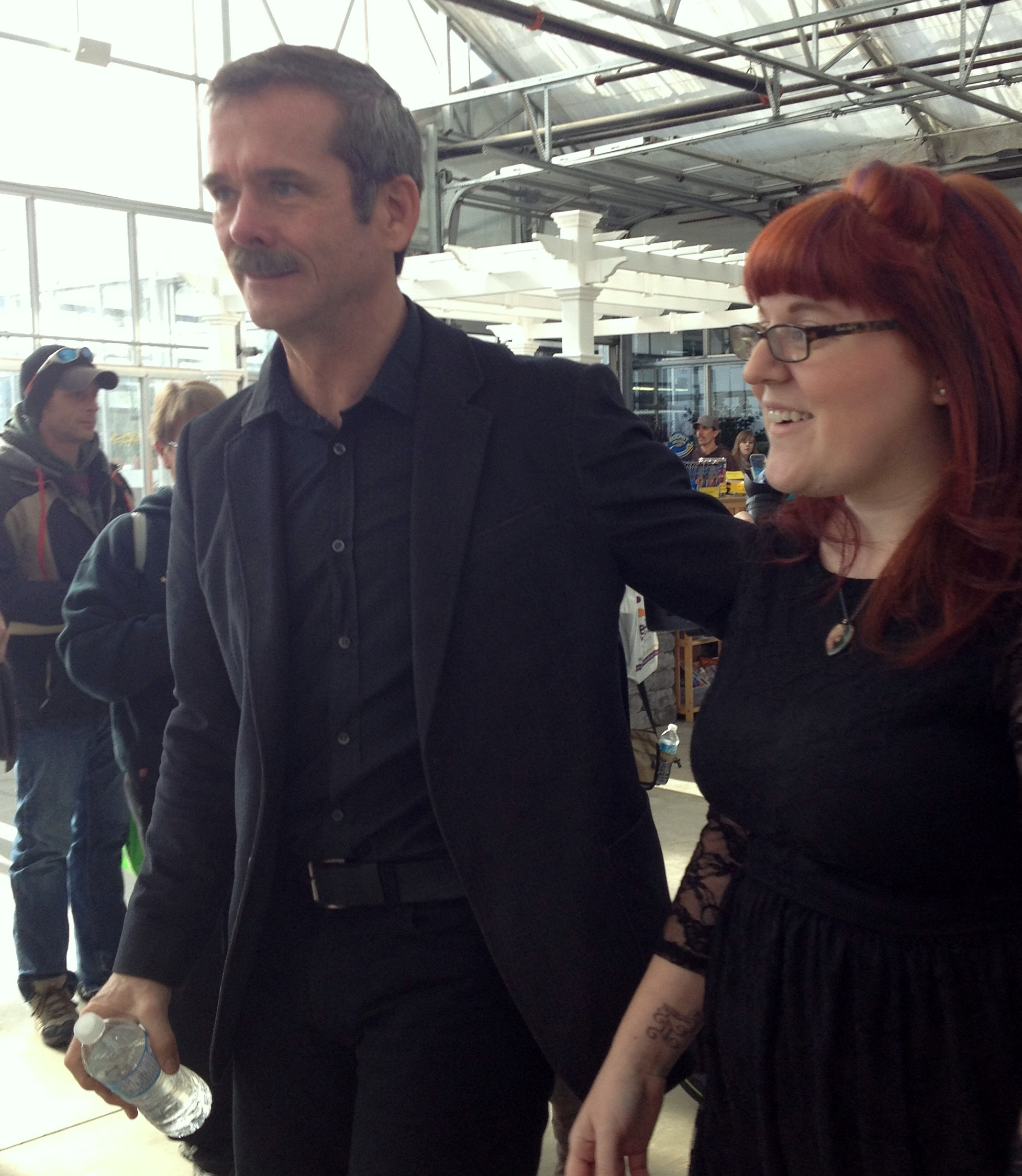 Chris Hadfield And Cat Cabajar