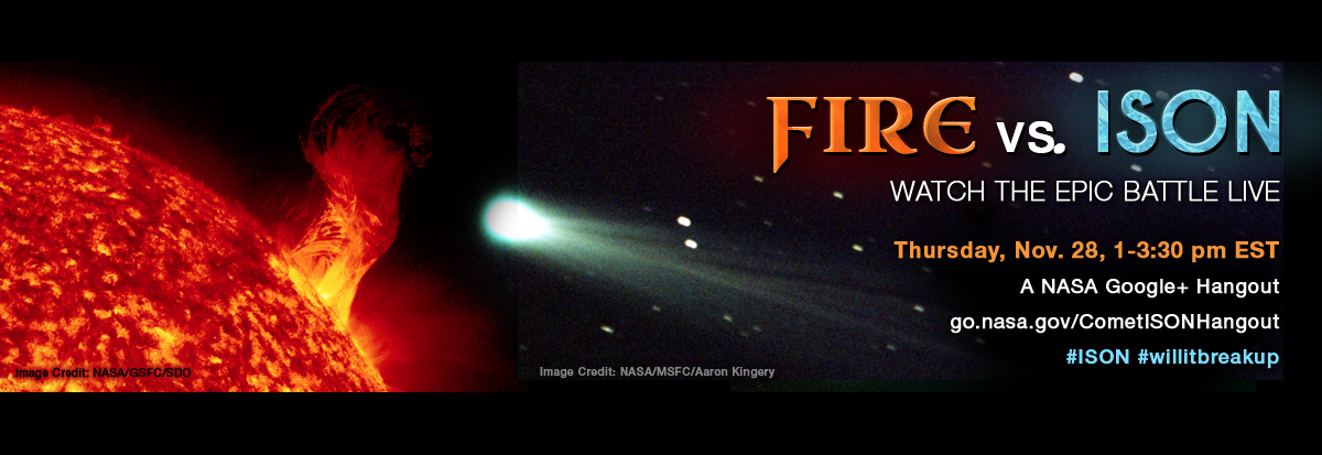 NASA Comet ISON webcast