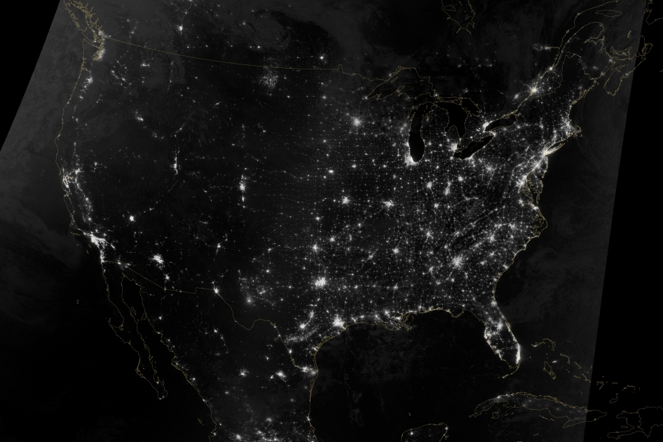 Thanksgiving Holiday Travel Paths Seen from Space (Photo)