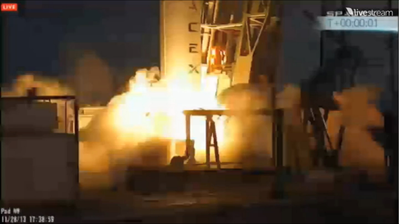 SpaceX Falcon 9 Rocket Abort