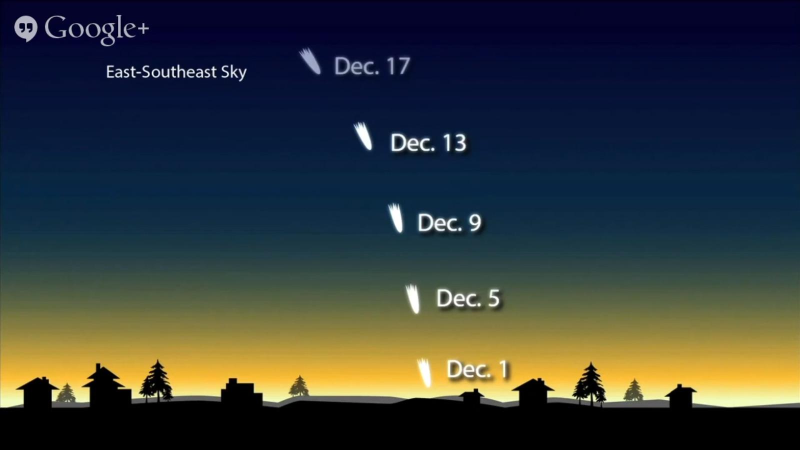 Comet ISON December Sky Map