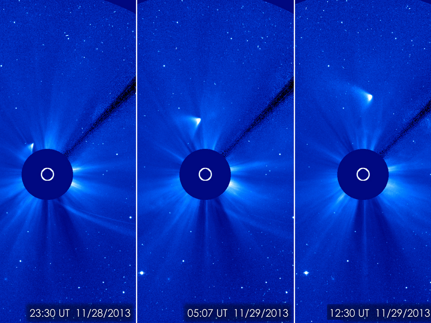 Comet ISON Survives Sun Flyby