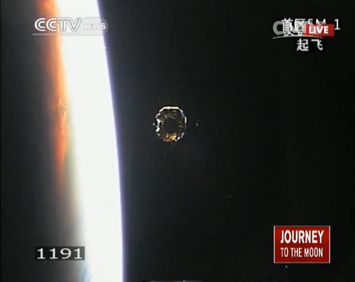 China's Chang'e 3 Spacecraft Separation