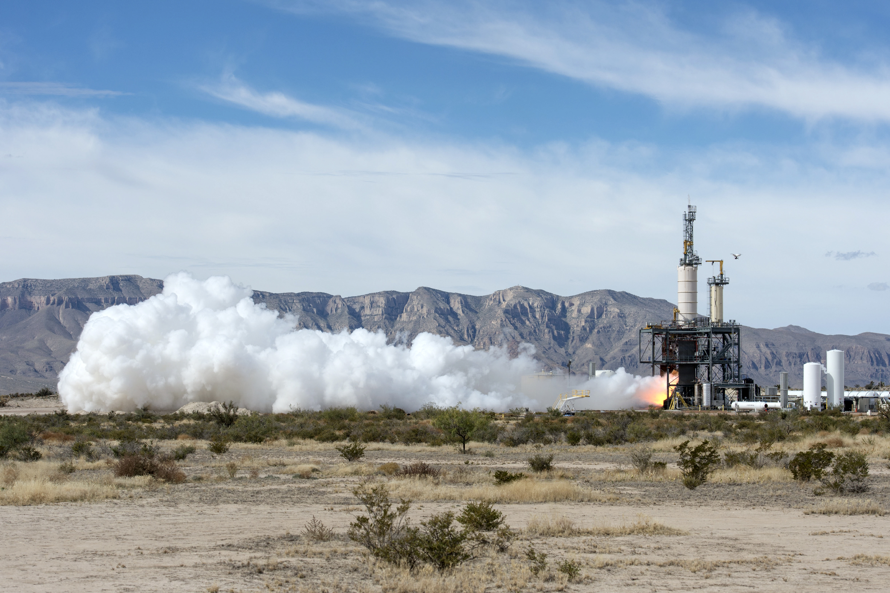 Blue Origin Test Fires Rocket Engine