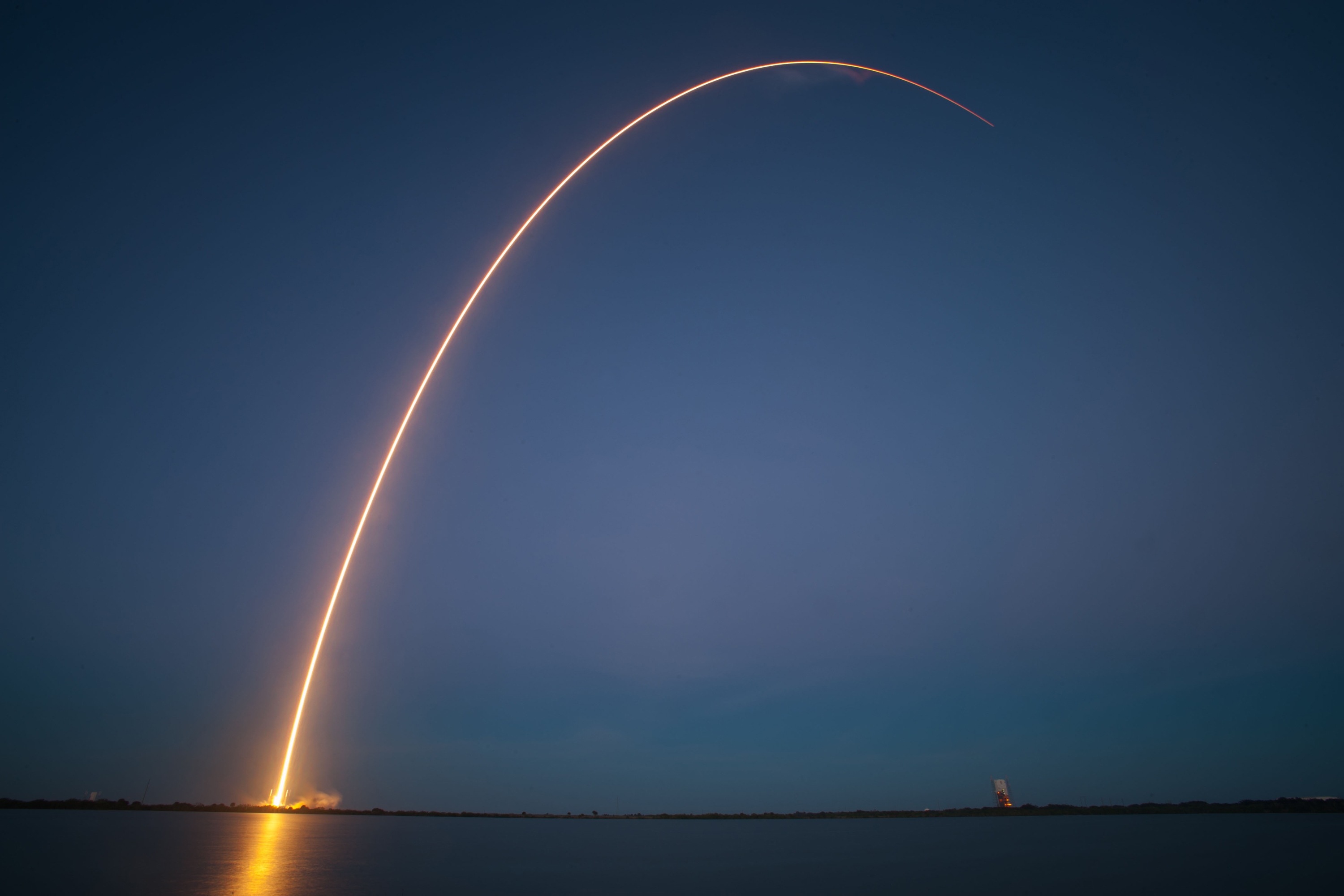 SpaceX Falcon 9 Rocket Soars