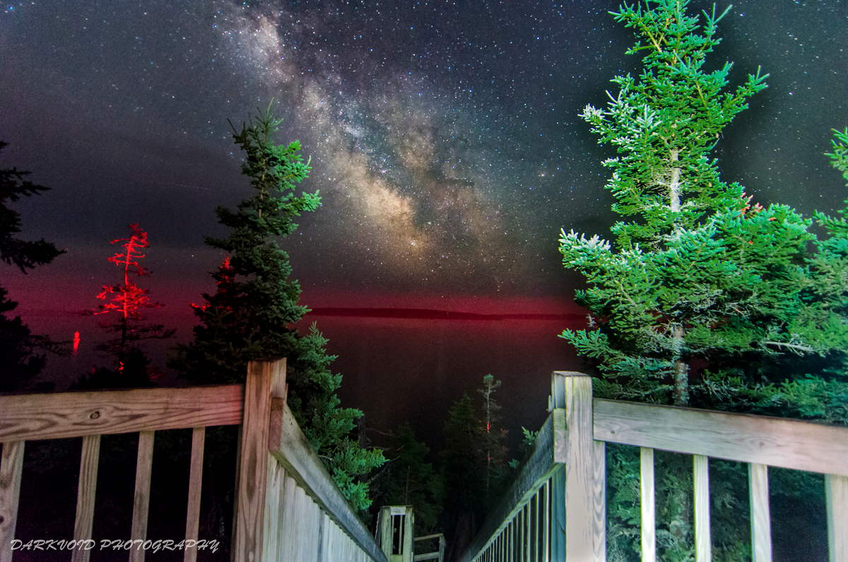 Milky Way Rising Over Acadia National Park
