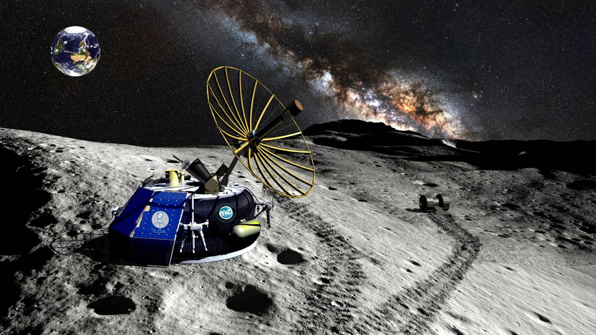 Moon Express Lander at the Lunar South Pole