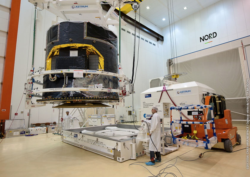 Gaia Spacecraft in Clean Room at Launch Center