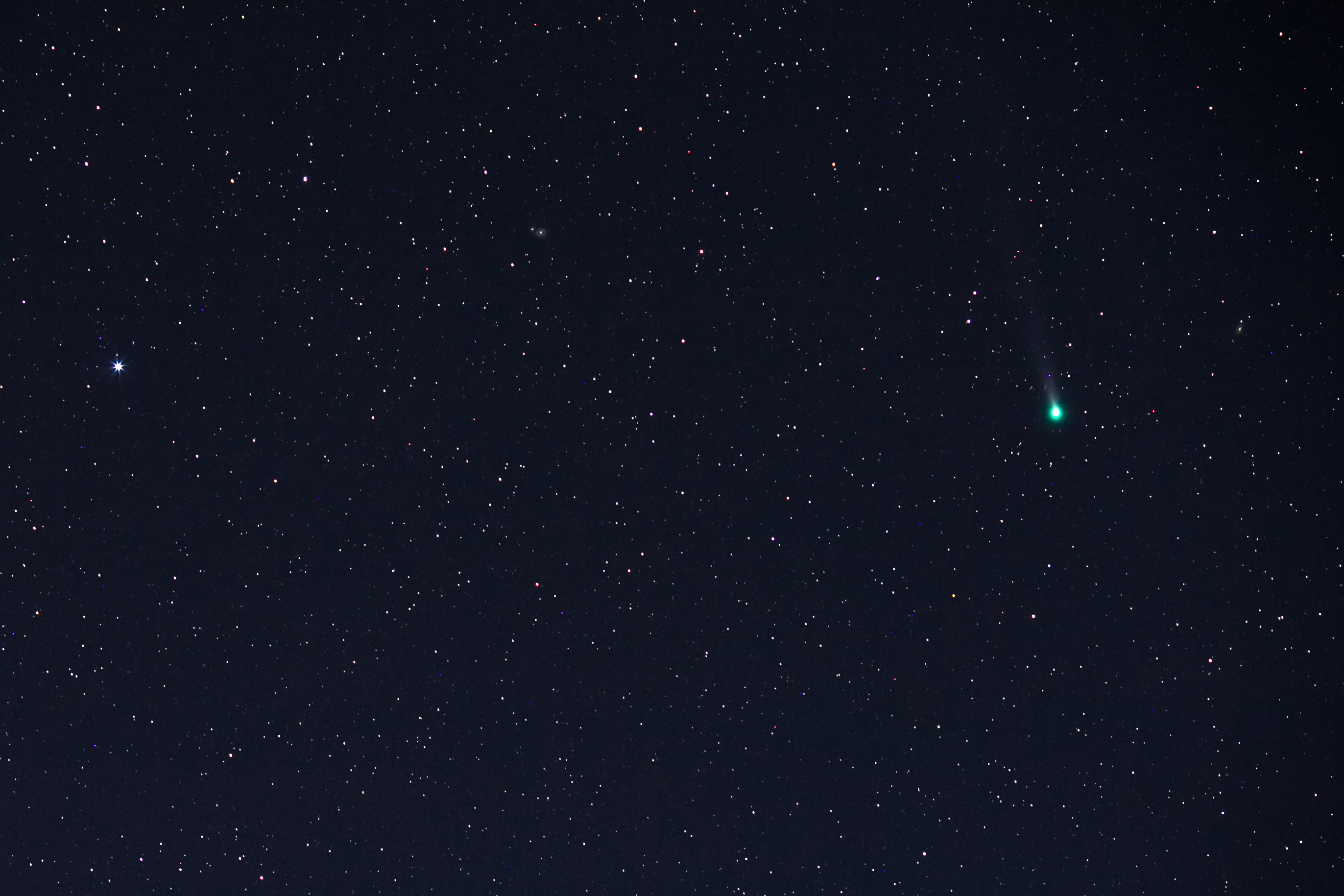 Comet Lovejoy and Messier 51 by Tyler S. Leavitt
