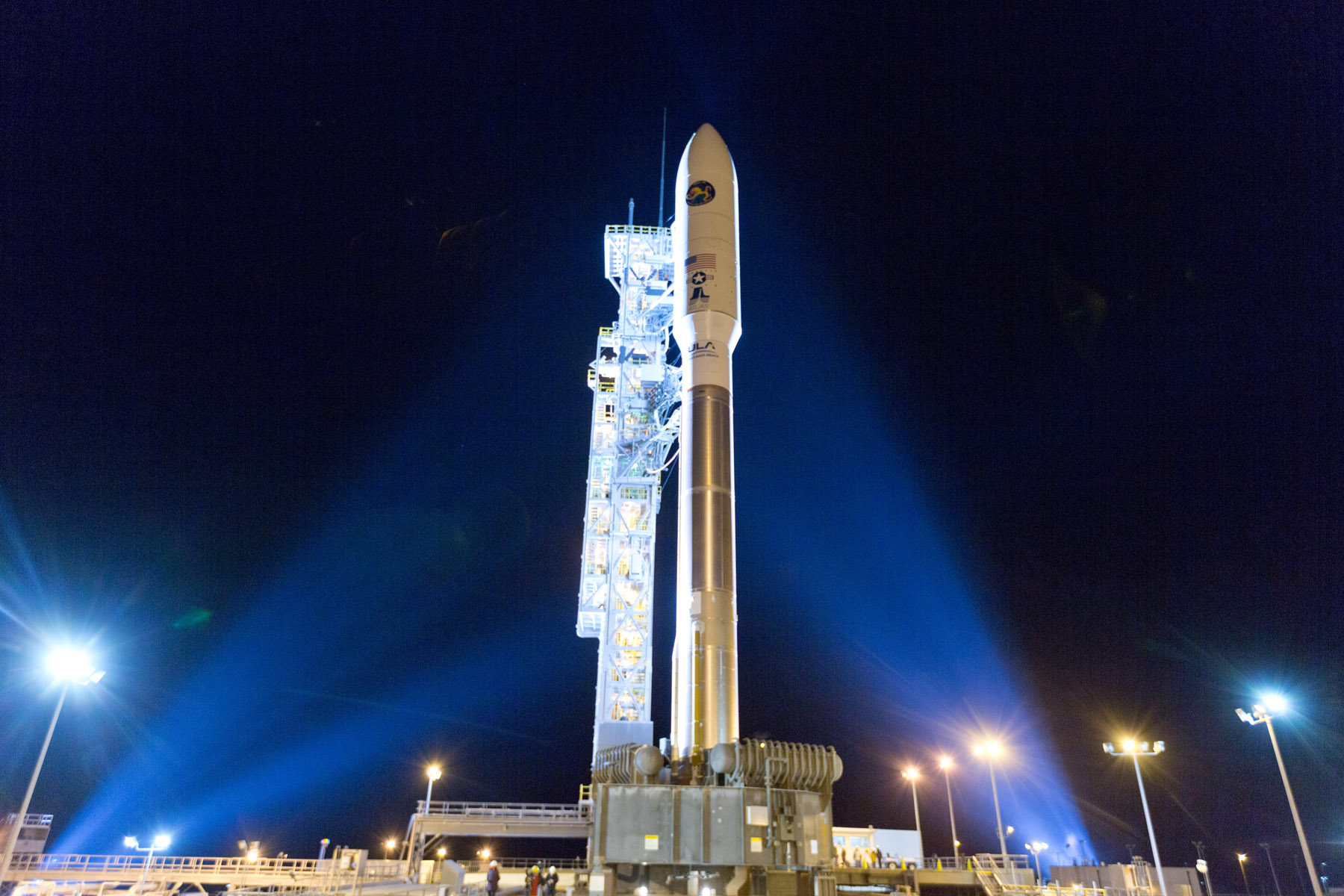 United Launch Alliance Launch: Mobile Service Tower Rolls Back