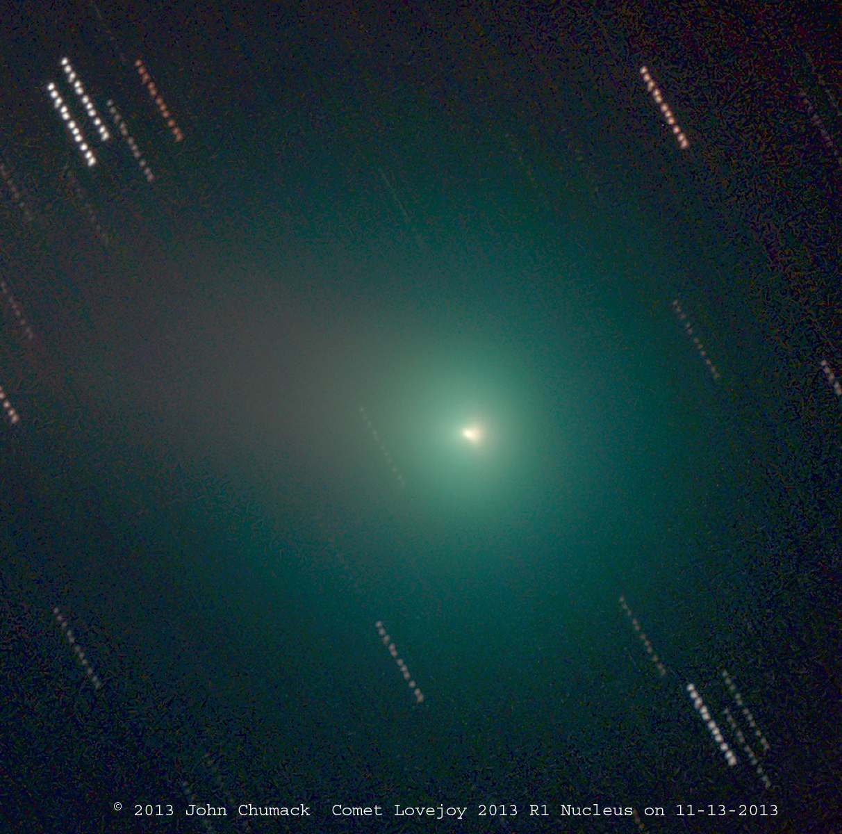 Comet Lovejoy Nucleus by John Chumack - Nov. 13, 2013