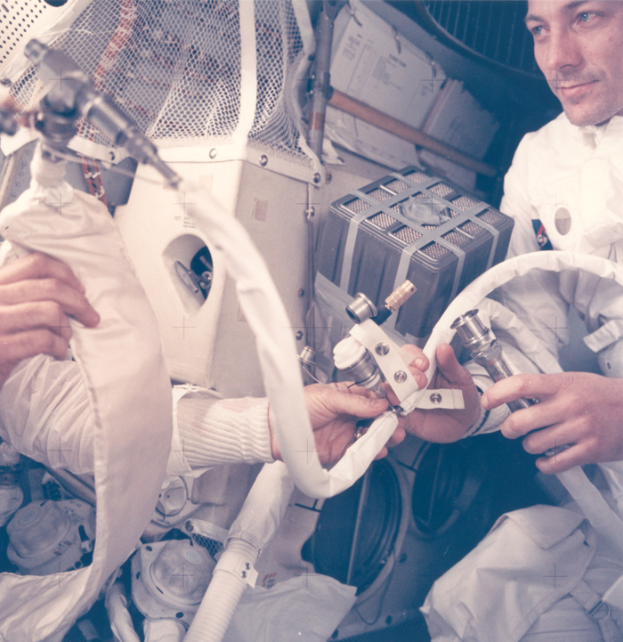 Space History Photo: Astronaut John Swigert with