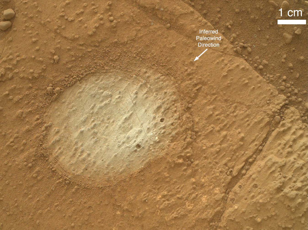 Bedrock Outcrop of Sheepbed Mudstone on Mars