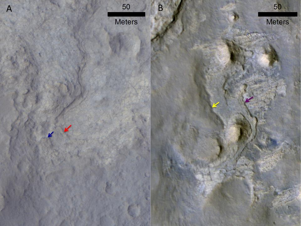 Erosion Patterns May Guide Mars Rover to Rocks Recently Exposed