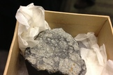 A small piece of the asteroid that exploded over the Russian city of Chelyabinsk in February, injuring 1,200 people.