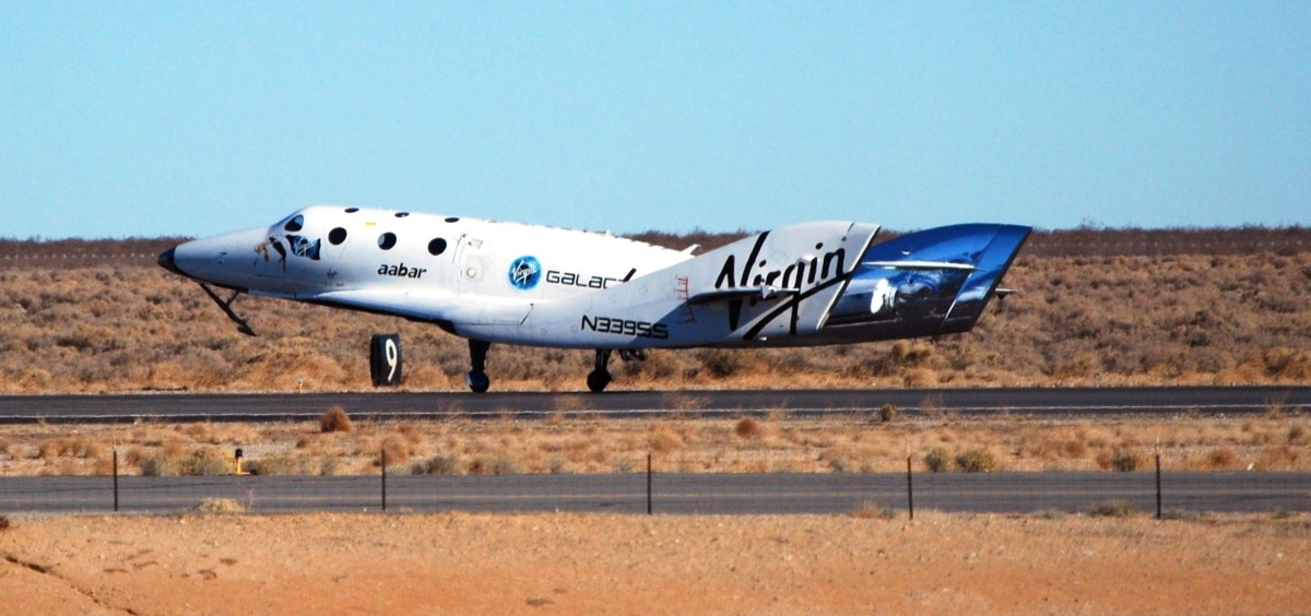 Virgin Galactic's SpaceShipTwo After Successful Glide Test