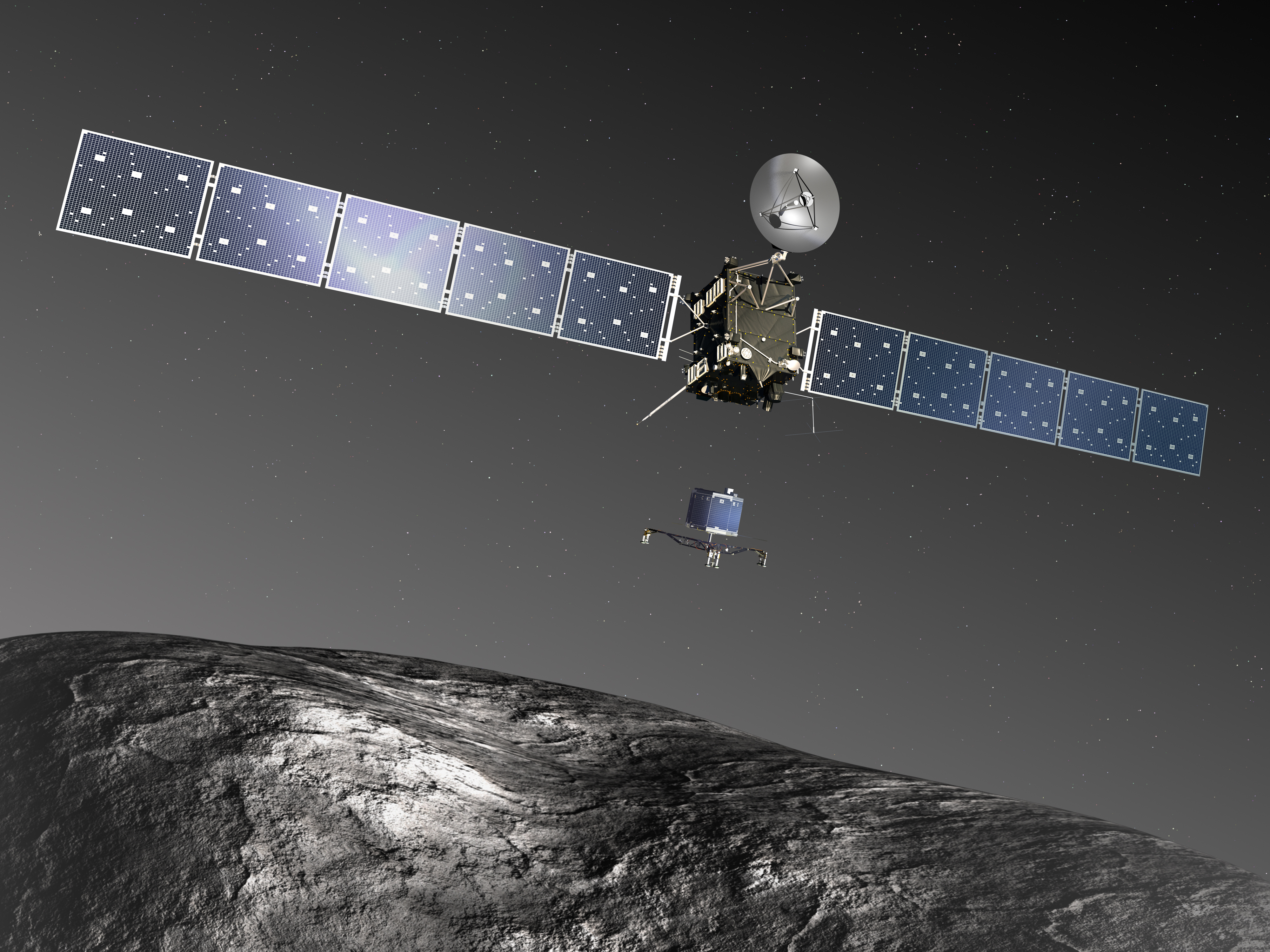 Rosetta Spacecraft Artist Impression