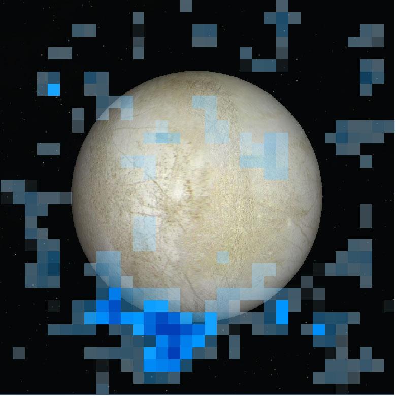 Europa South Polar Water Plume
