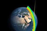 A cross-section of Earth's ozone layer as measured by the limb profiler, part of the Ozone Mapper Profiler Suite that's aboard the Suomi NPP satellite.
