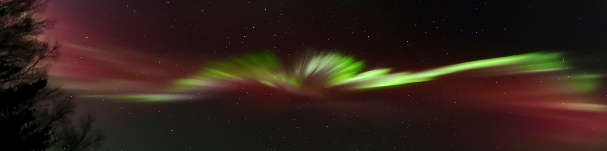 Panoramic Aurora Over Alaska by LeRoy Zimmerman