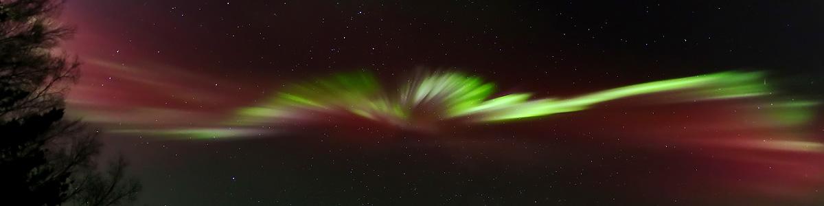 Panoramic Aurora Over Alaska by LeRoy Zimmerman