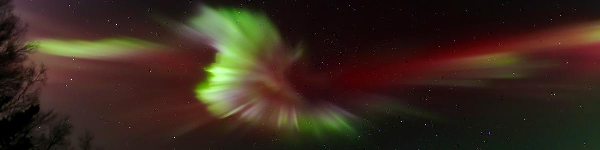 Aurora Dances Over Alaska by LeRoy Zimmerman
