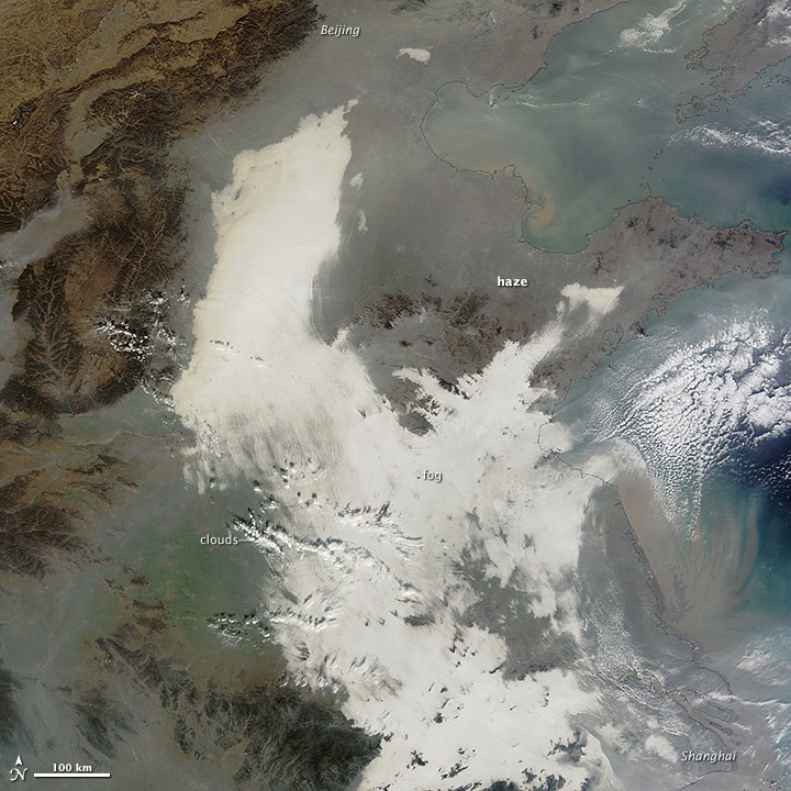 China's Thick Smog Spied From Space (Photo)