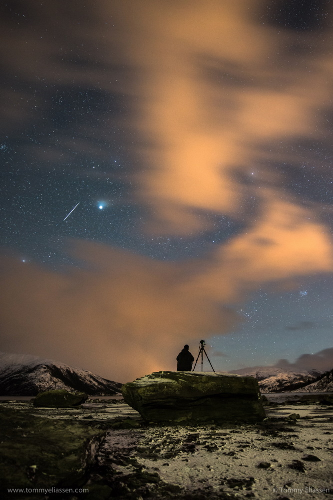 2013 Geminid Meteor Seen in Norway.