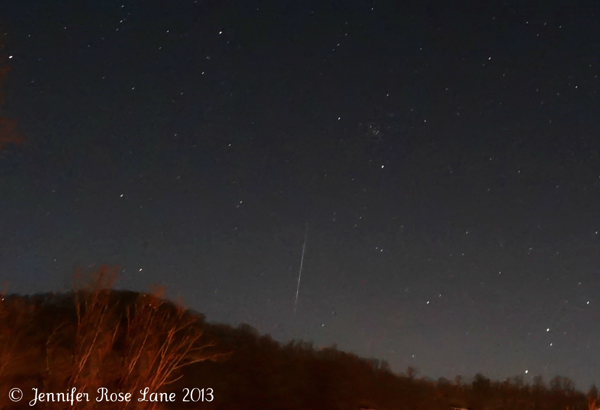 2013 Geminid Meteor Seen in West Virginia