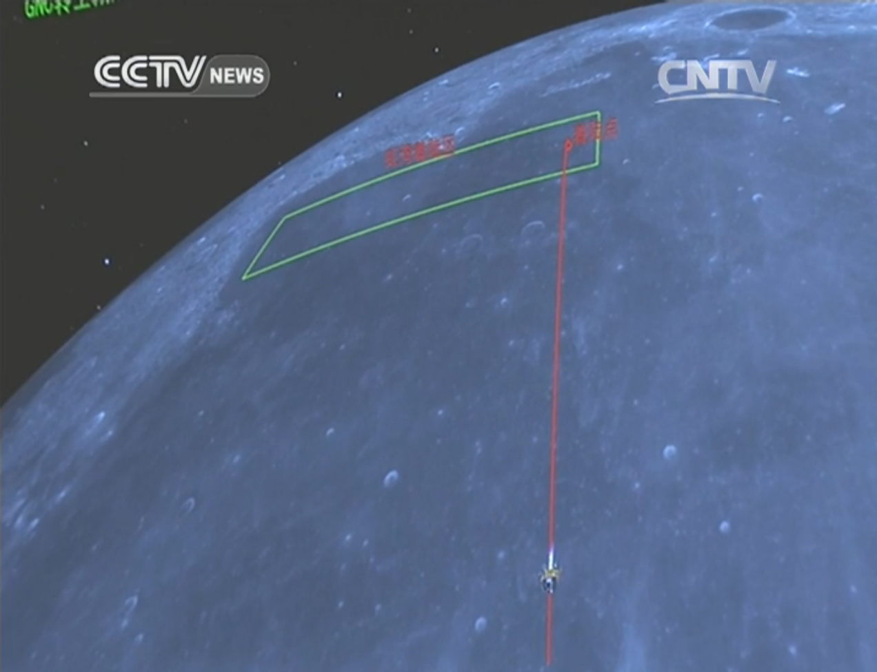 China's Chang'e 3 Approaches the Moon