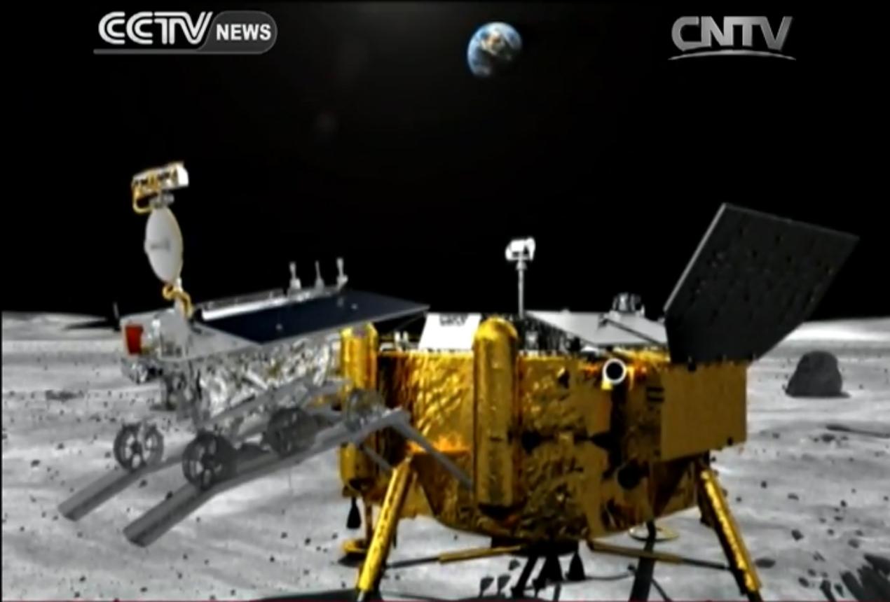 Chang'e 3 Yutu Rover Deploys on the Moon