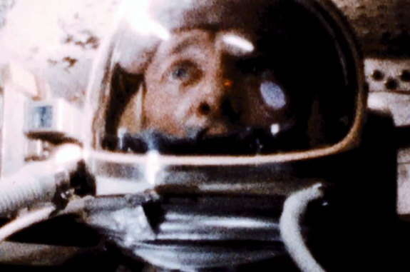 "The first American astronaut in space Alan Shepard, as seen in the trailer for Christopher Nolan's ""Interstellar."" The film opens in theaters in November 2014."