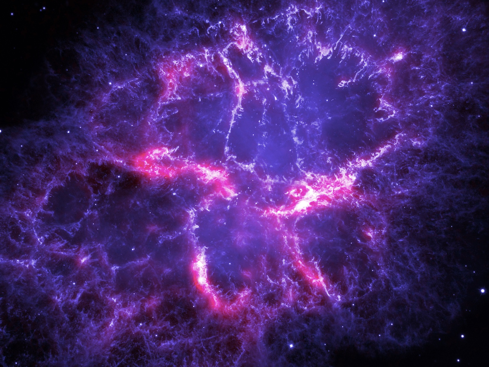 Herschel and Hubble Composite of Crab Nebula
