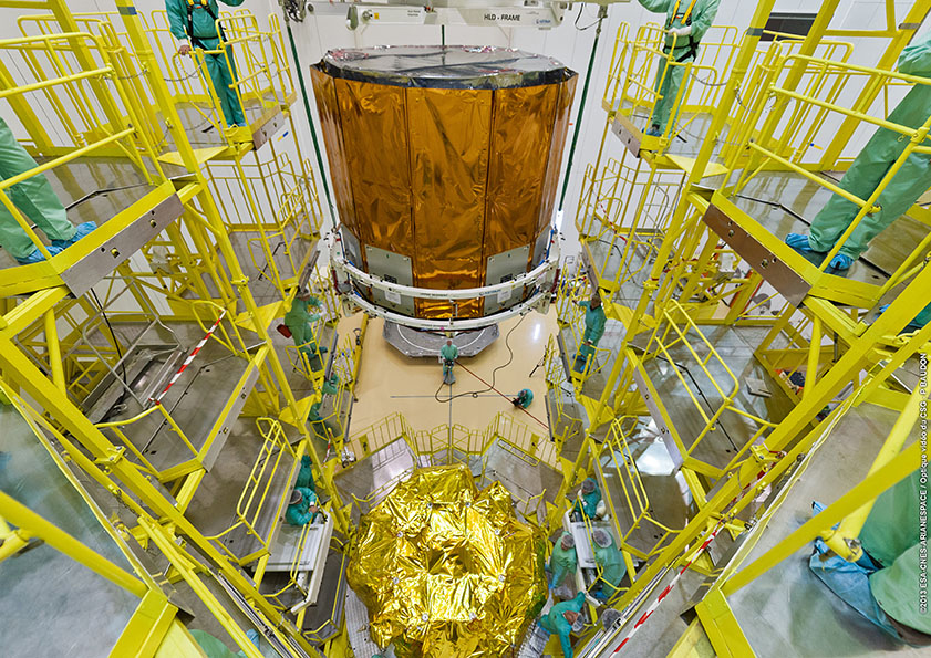 Gaia Star-Mapper Lowered Atop Fregat