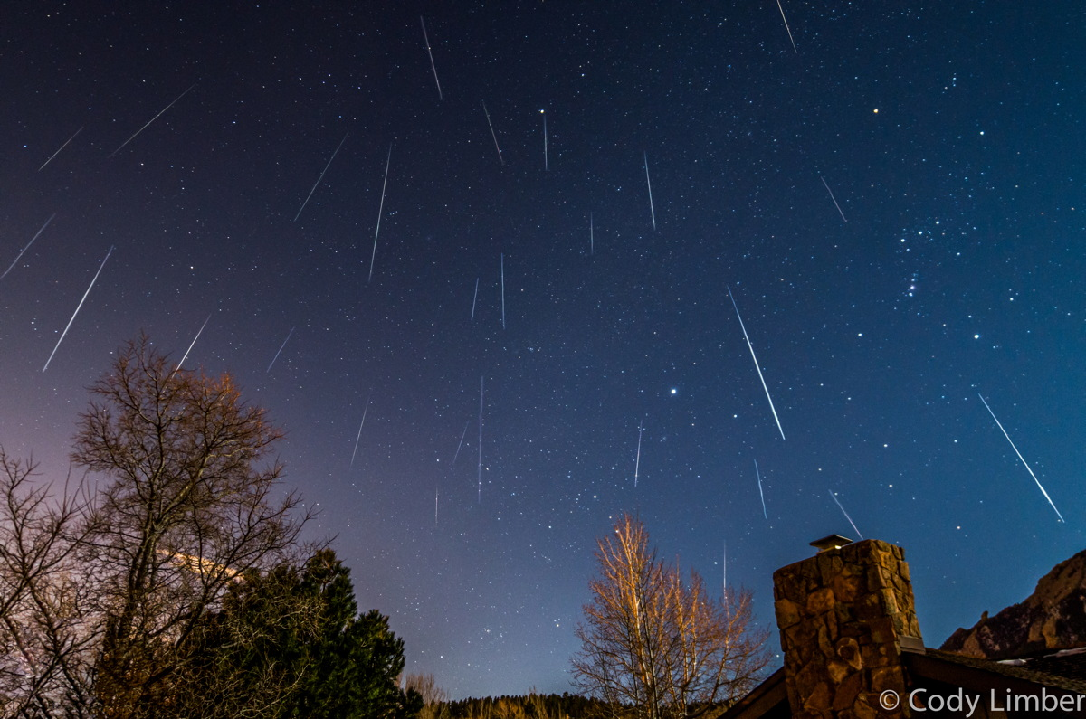 2013 Geminid Meteor Shower over Boulder, Colorado