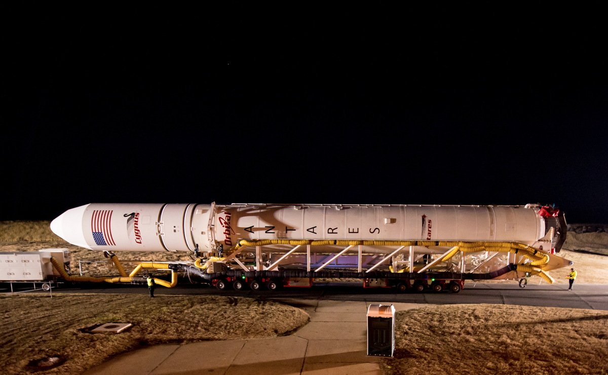 Antares Rocket Rollout Side View