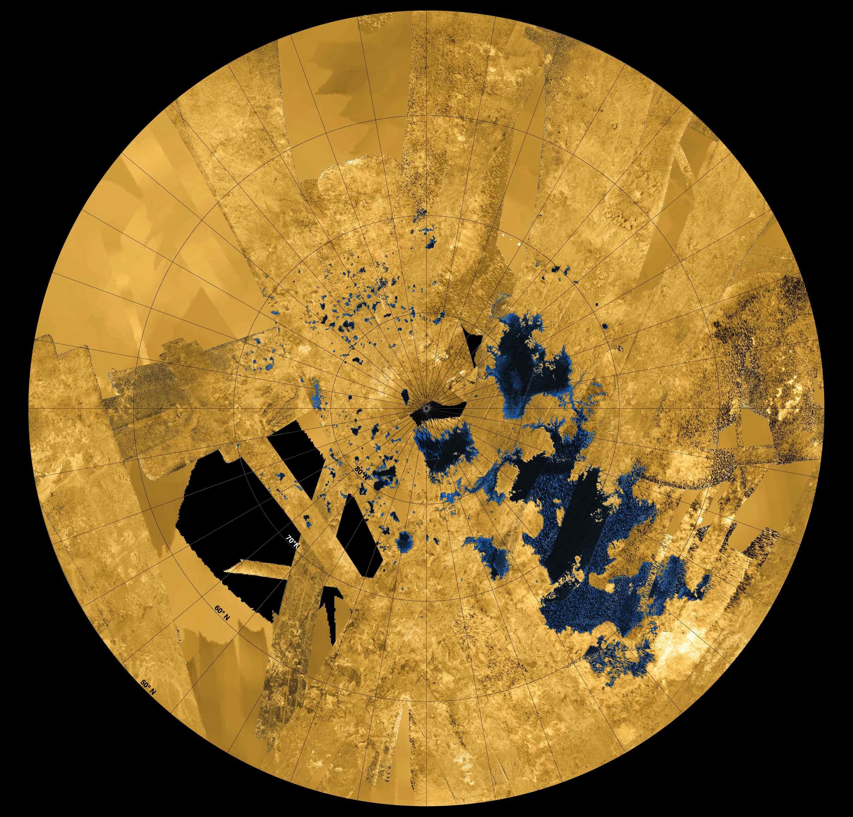 Titan's Seas Emerge in Clear Detail