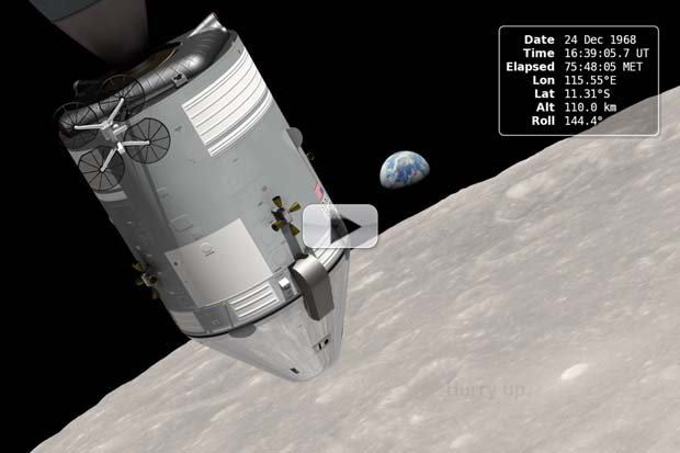 Historic 'Earthrise' Re-Created For 45th Apollo 8 Anniversary | Video