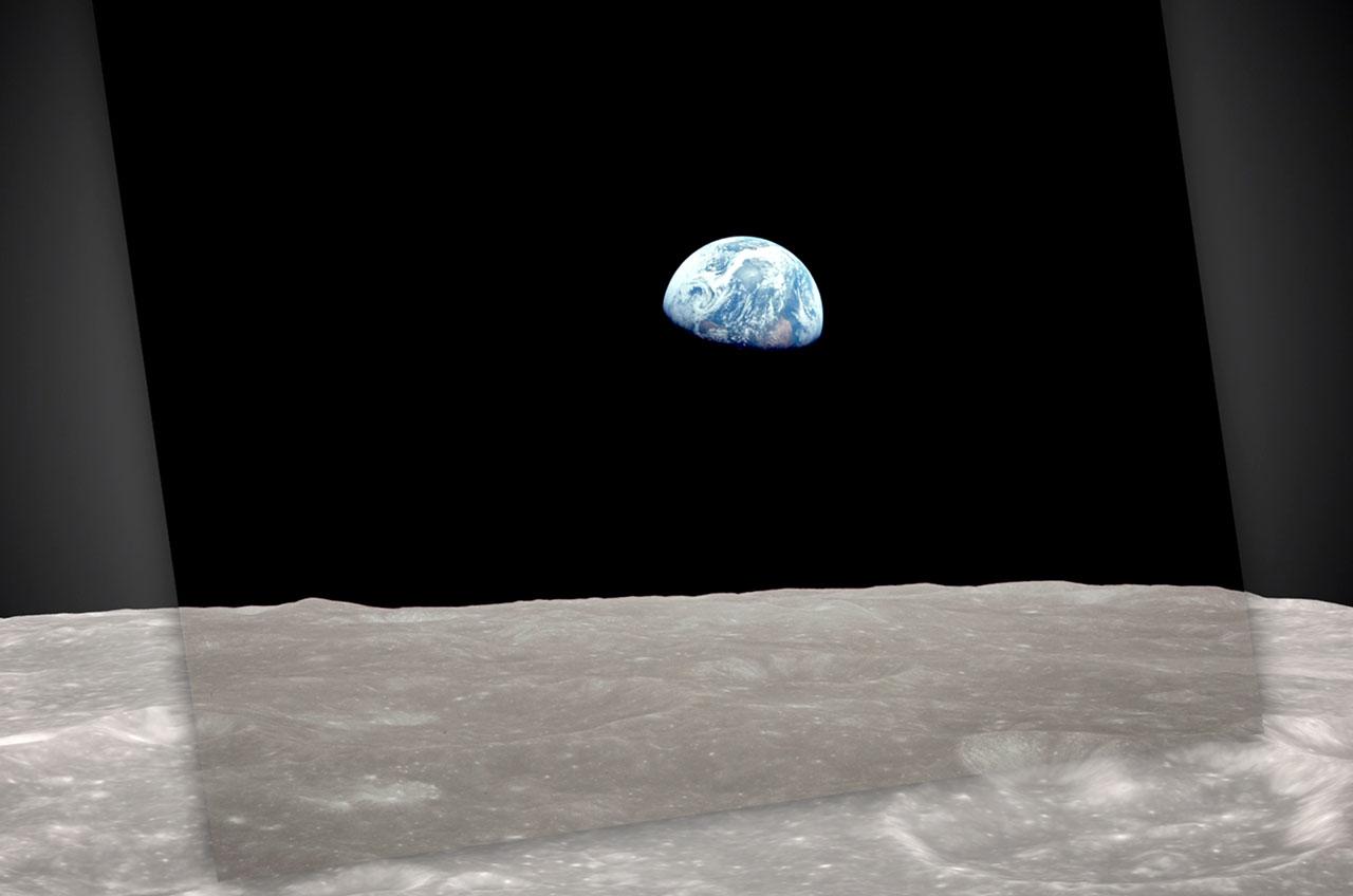 NASA Recreates Famous 1968 'Earthrise' Photo