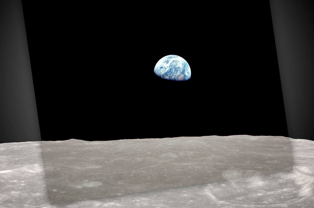 NASA Recreates Famous 1968 'Earthrise' Photo